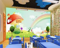 Mushroom Home Decor Online Shop Beibehang Wall Paper Home Decor Dreamland Rainbow