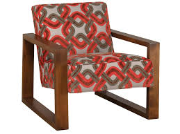 Colorful Accent Chairs by Jonathan Louis Accentuates Tyson Accent Chair With Exposed Wood