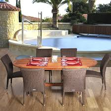 Resin Wicker Patio Furniture Sets - amazonia lemans 6 person resin wicker patio dining set with