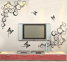 buy decals design lovely butterflies wall sticker pvc vinyl buy decals design lovely butterflies wall sticker pvc vinyl black online low prices india amazon