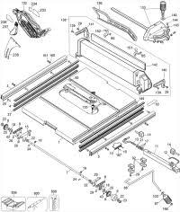 Bosch Table Saw Parts by Dewalt Dw744 Portable Table Saw Parts Type 6 Parts