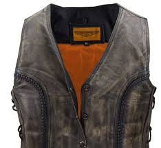 mens textile motorcycle jacket ladies motorcycle distressed leather vest braided vest side laces