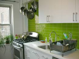 special green subway tile kitchen backsplash ceramic wood tile