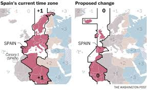 Google Maps Time Zones by Fascism Helped Create A Time Zone Oddity In Spain 70 Years Later
