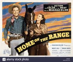 Home On The Range by Home On The Range From Left Randolph Scott Evelyn Brent Jackie