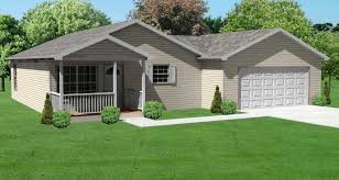 this image shows the front elevation of these bungalow house plans
