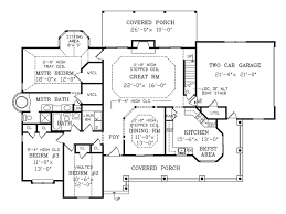 House Floor Plan Houseplans Com Country Farmhouse Main Floor Plan Plan 456 6