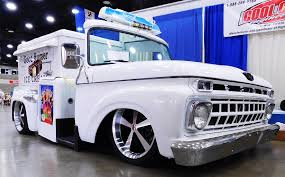 Vintage Ford Ice Cream Truck - nostalgic good humor rod ice cream truck caught on camera at