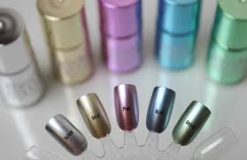 models own colour chrome liquid metal effect collection tattooed