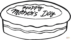 happy mothers day cake coloring page free printable coloring pages