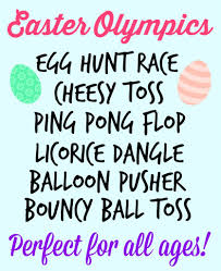 fun and cheap party games easter olympics easter holidays