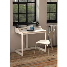home office modern small white desk plus white chair for small