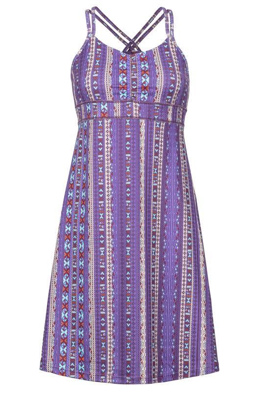 Marmot Taryn Dress Paisley Purple Mystic Small 47260-8369-S