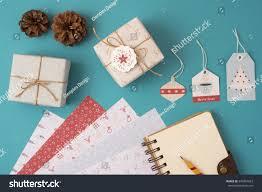 merry christmas season concept stationery mockup stock photo