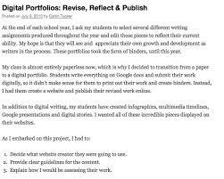 images about Digital Portfolio on Pinterest Digital Portfolios  Revise  Reflect  and Publish   even includes student assignment  http