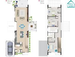 a narrow two story space smart house plan perfect for modern