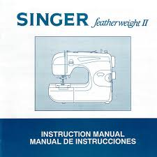instruction manual singer 117 featherweight ii sewing parts online