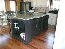old world kitchen after custom center island painted in a black