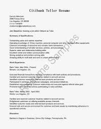 Teller Experience Resume  resume bank teller position no