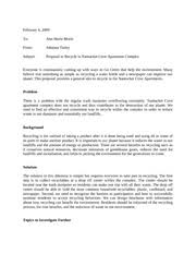 Online Technical Writing  Proposals