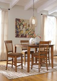 Ashley Furniture Dining Room Chairs Ashley Furniture Berringer Hickory Stained Hardwood Round Drop