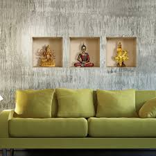 pag creative design vinyl 3d wallpaper pvc wall sticker buddha