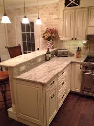 Off White Kitchen Cabinets With Black Countertops My Diy Kitchen Two Tier Peninsula Viking Range Stools From