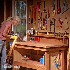 Plans For Building A Wooden Workbench by How To Build A Diy Workbench Super Simple 50 Bench Family Handyman
