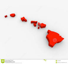 State Map United States by Hawaii Red Abstract 3d State Map United States America Royalty