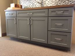 Maple Shaker Style Kitchen Cabinets Armstrong Cabinets Trevant 5 Piece Door Style In The Slate Painted