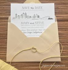 city skyline wedding save the date custom graphic design san