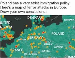 Map Policy Poland Has A Very Strict Immigration Policy Here U0027s A Map Of