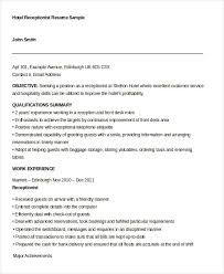 Sample Of Receptionist Resume by Receptionist Resume Template Front Desk Medical Receptionist