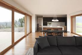 how to decorate a living room dining combo with sliding glass