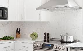 White Kitchen Backsplash White Cabinet Marble Mosaic Kitchen - White kitchen backsplash ideas