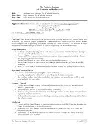 Executive Summary Resume Example Template Resume Example Retail Store Manager Examples Template Microsoft
