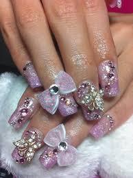 nail art pretty acrylic nail designs trend manicure ideas in