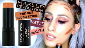 makeup revolution the one blush stick in matte malibu review