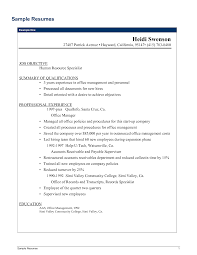 Resume Examples Human Resources Resume Human Services Resume Samples