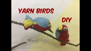 Home Decor Birds by How To Create A Cute Birds With Yarn Thread Diy Craft Home