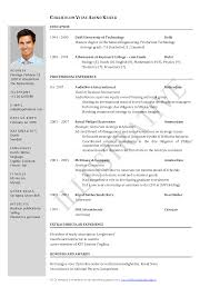 Sample Resume Format for Fresh Graduates  Two Page Format     Over       CV and Resume Samples with Free Download  Civil Engineering  Resume Doc