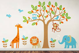 Tree Decal For Nursery Wall by Tree Wall Decals Wall Stickers Leafy Dreams Nursery Decals