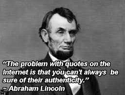 """Abe Lincoln"" on the Internet"
