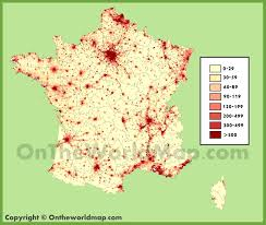 Population Density Map United States by France Population Density Map