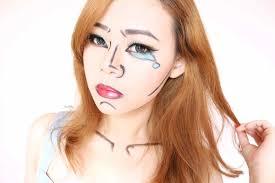 halloween makeup easy pop art video tutorial jean milka
