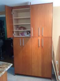 Old Wooden Kitchen Cabinets Kitchen Room 2017 Design Furniture Corner Brown Wooden Tall