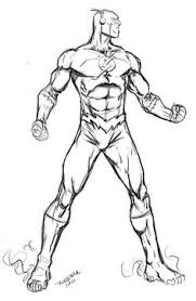 running flash superhero coloring pages crafts pinterest