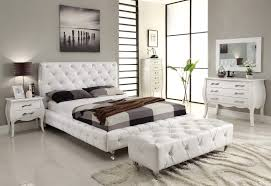 Bedrooms  White Leather Bedroom Sets White Leather Bedroom Sets - White tufted leather bedroom set