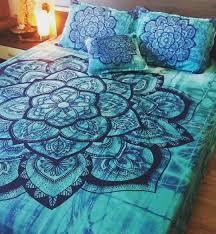 Ocean Themed Bedding Mandala Bedding Bohemian Turquoise Mandala Duvet Bedding Set