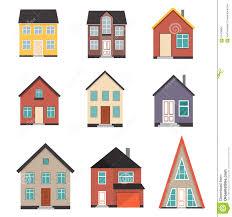 flat house icon set stock vector image 67476964